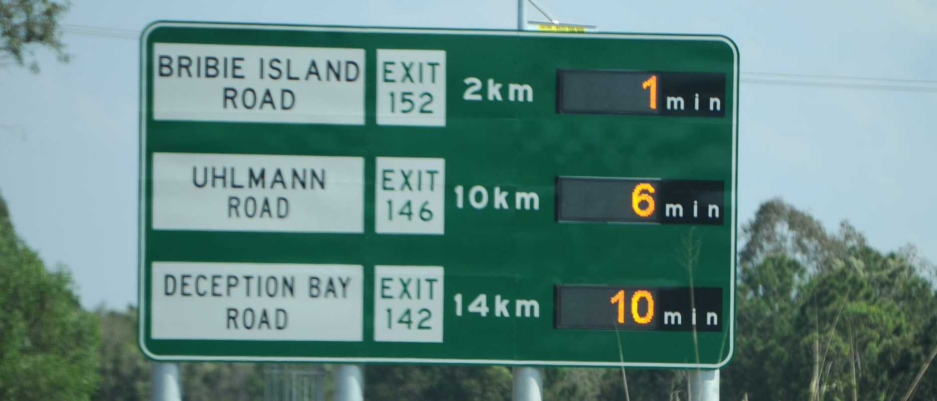 New sign showing the times on the Bruce highway