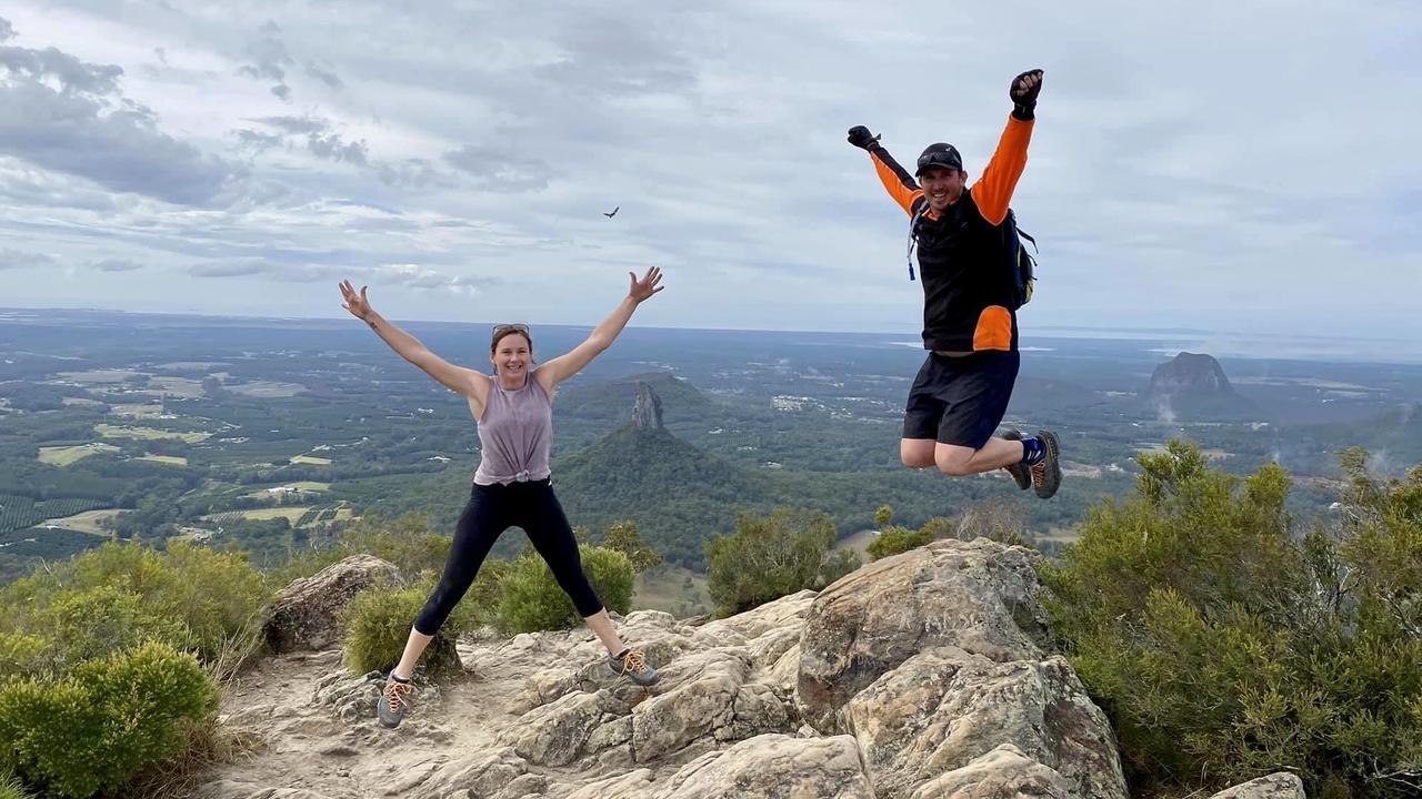 JUMPING FOR JOY: The Aussie Trekka Brad Costigan plans on visiting Girraween National Park this weekend.