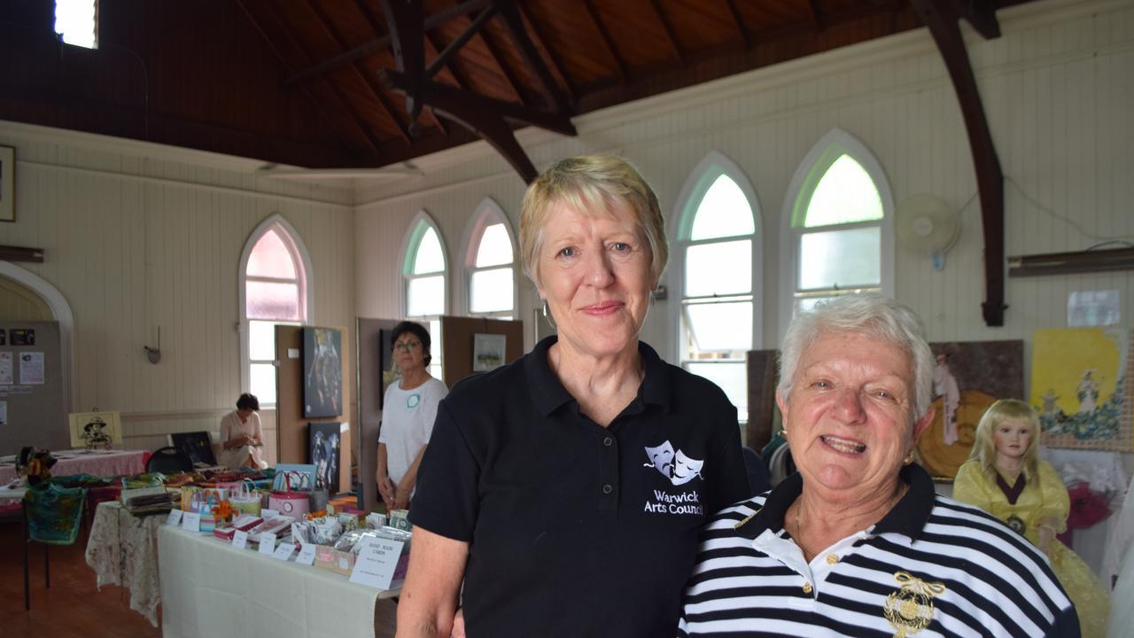 END OF AN ERA: Warwick Arts Council president Lynda Hemmings in 2017 with secretary Barbara Schmoelzer.