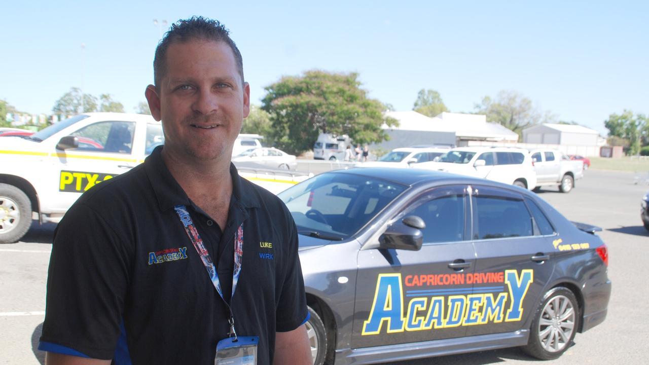 Capricorn Driving Academy's Luke Wildie. Photo Meghan Kidd