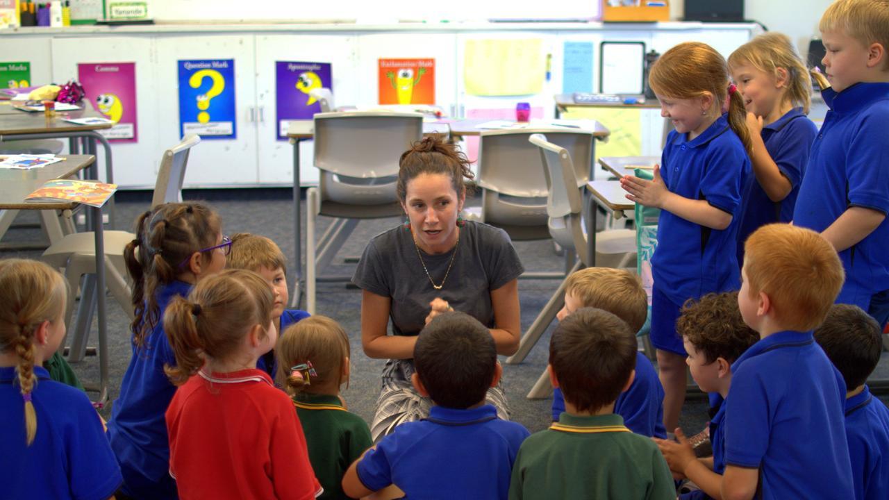 Eidsvold teacher Chantal Hudson teaching her class. Picture: Contributed