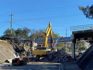 Noosa road link comes crashing down