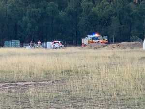 UPDATE: Crews attend fire after 'bush bashing' car engulfed