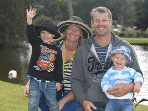 Jace, Kaylea, John and Ryan Gillingham at Lake