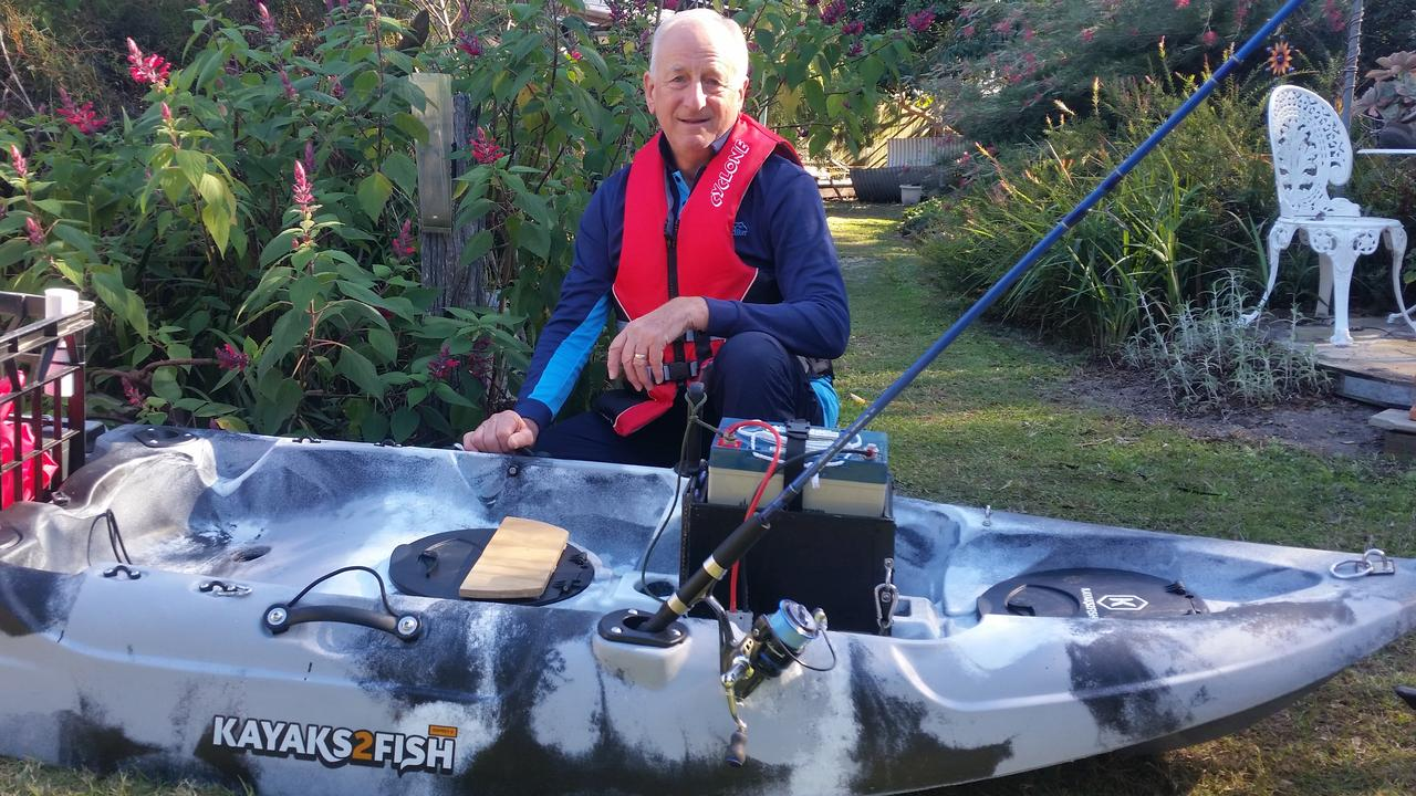 LIFE JACKET: David Wycherley spent one-and-a-half hours in the freezing water after his kayak overturned in Lake Wivenhoe on Monday, June 1.