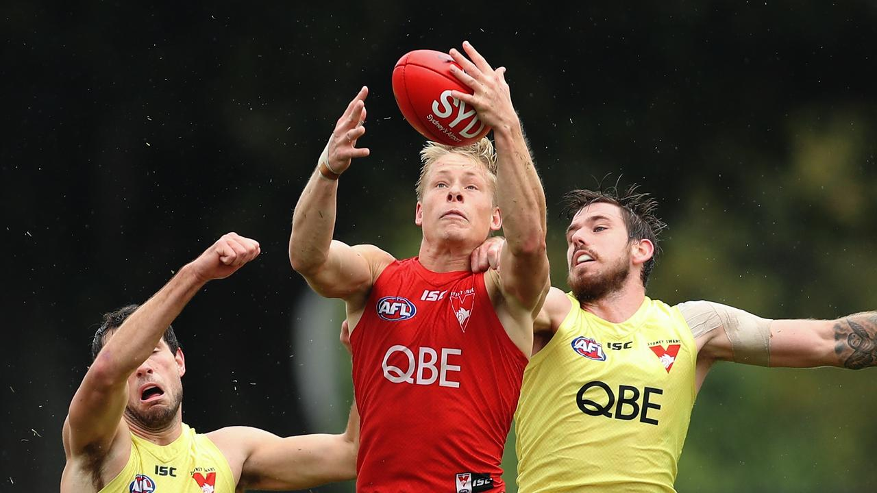 Hitting the scoreboard is the key for Isaac Heeney. Picture: AAP