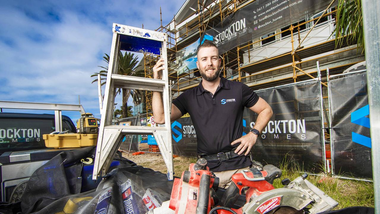 Lane Stockton from Stockton Homes is one Queensland tradie hopeful to see work generated by the HomeBuilder scheme. Picture: Nigel Hallett