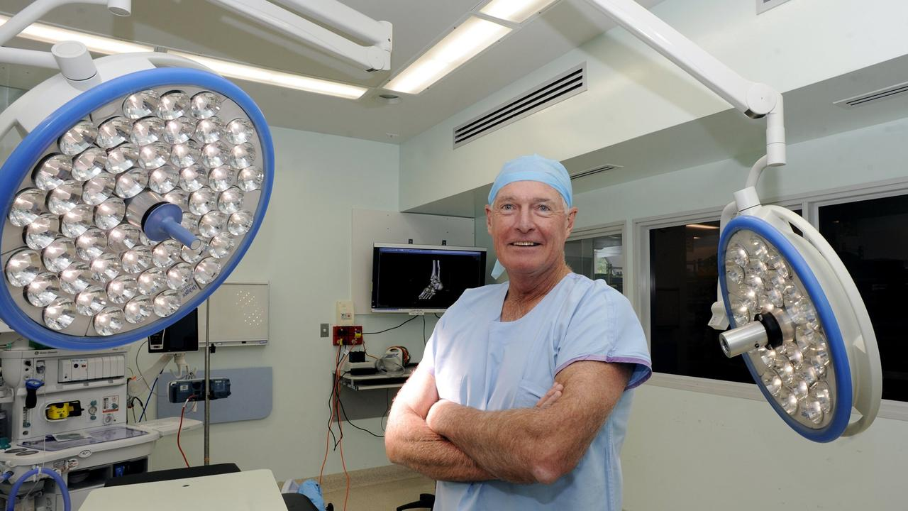 Dr Austin Curtin on his last day at Lismore Base Hospital in 2018.
