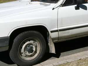 HIT AND RUN: White Hilux tears up suburban streets