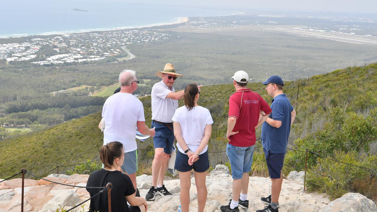 Judge Nicole Kefford conducts a site inspection of Mount Coolum on day two of a Planning and Environment Court hearing into the Sekisui House development. Photo: John McCutcheon / Sunshine Coast Daily