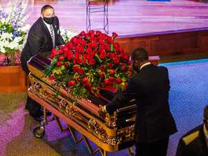'Get your knee off our necks!': Mourners farewell George
