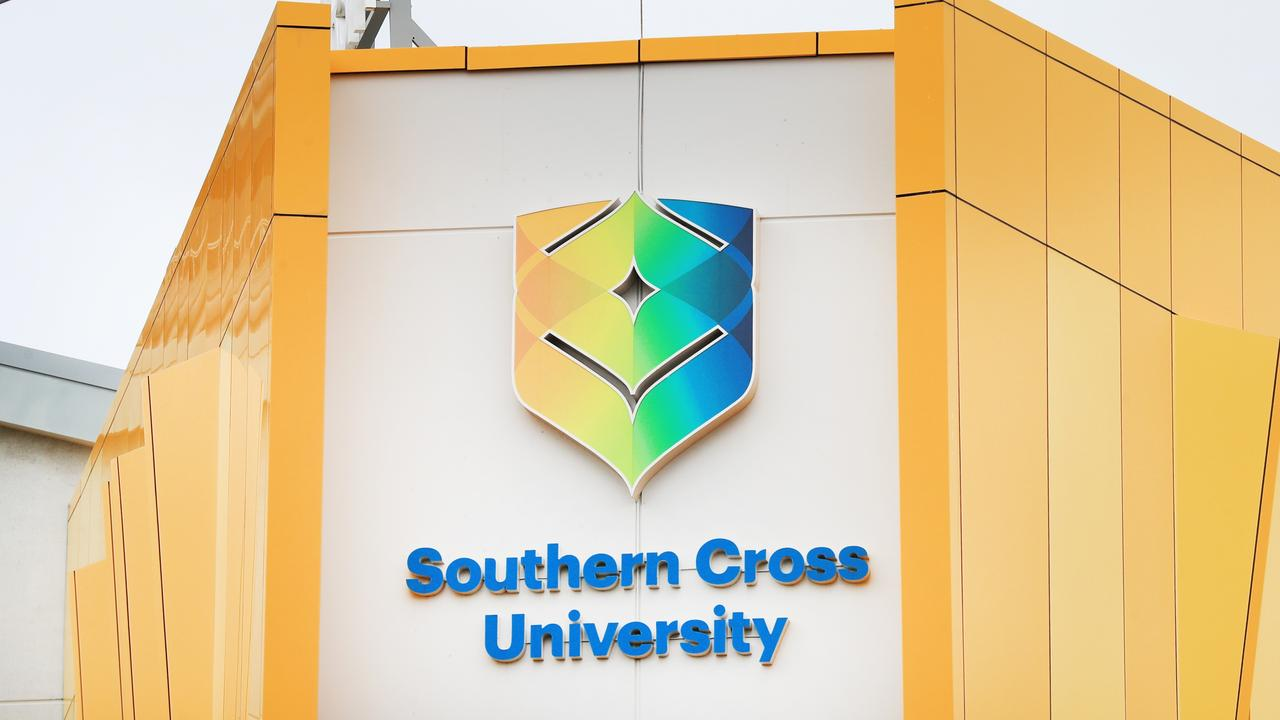 The Southern Cross University Gold Coast campus at Bilinga was in shut down on Wednesday after a visiting staff member was identified with COVID-19. Photo: SCOTT POWICK