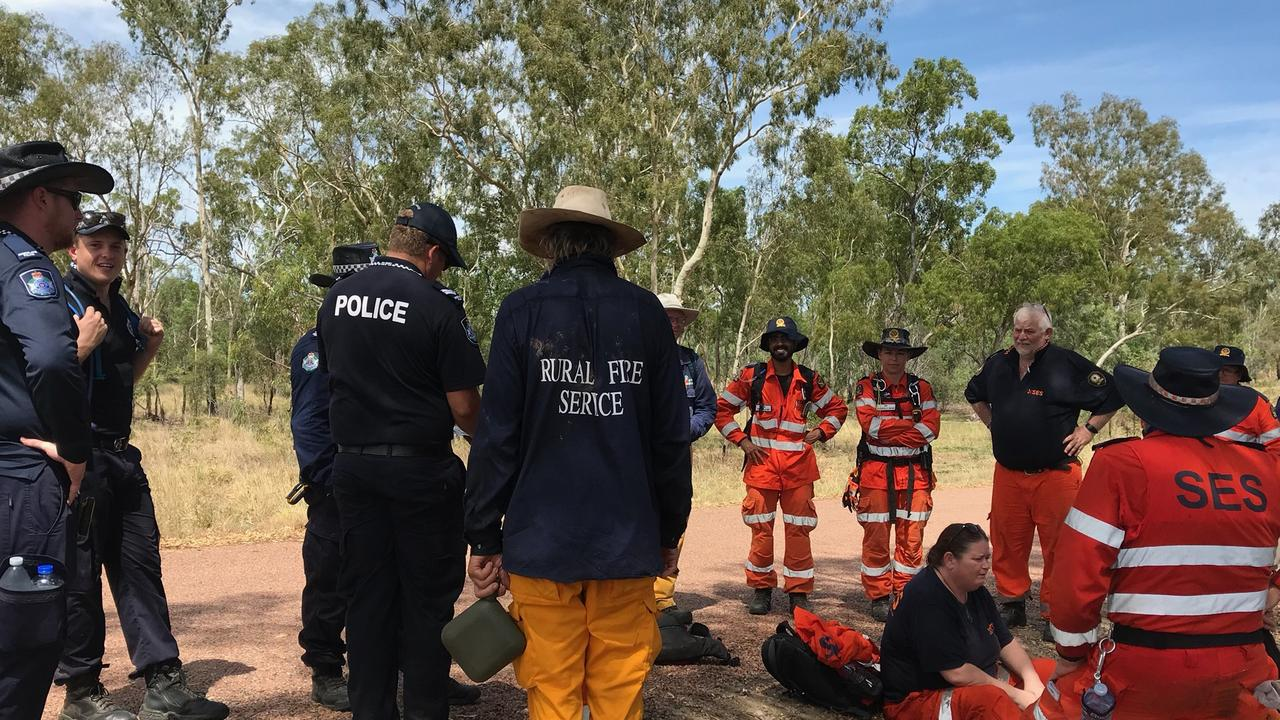 SES volunteers and police search for Jayden Penno-Tompsett near Charters Towers.