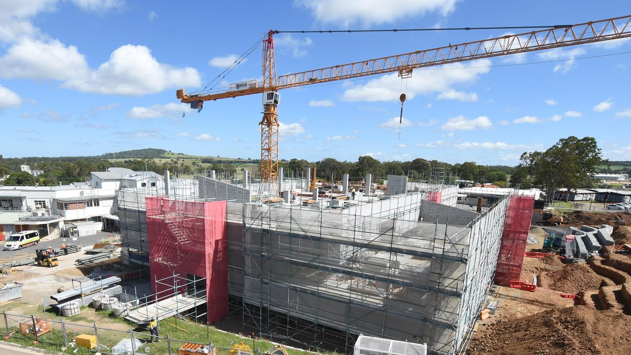 The Kingaroy Hospital redevelopment is continuing and remains on track for completion in 2021. Photo: Darling Downs Health