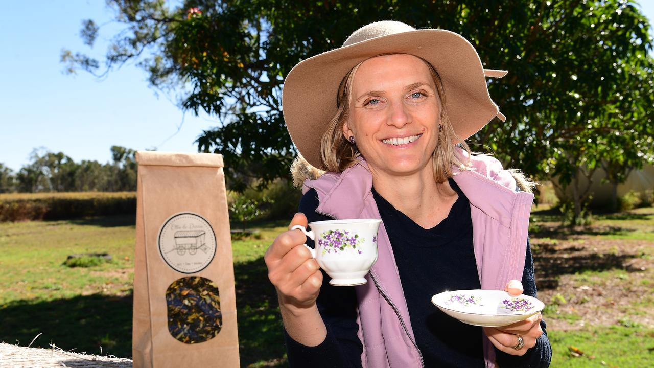 CHEERS: Sara Pardon has a tea making business called Ettie & Dorrie. Picture: Mike Knott.