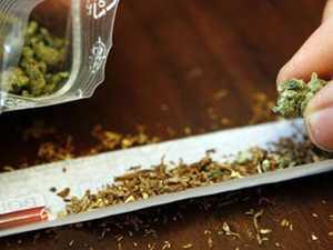 PACKING: Man hides marijuana down pants