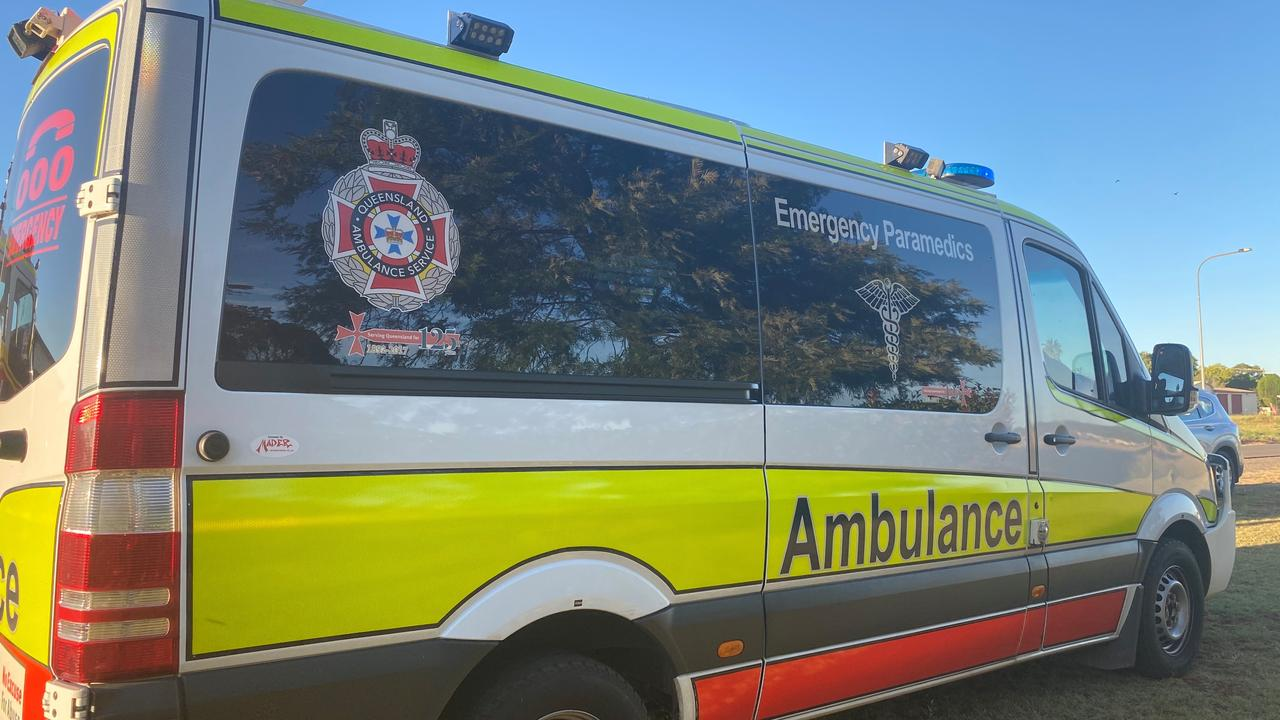 A man has been hospitalised following a motorbike crash.