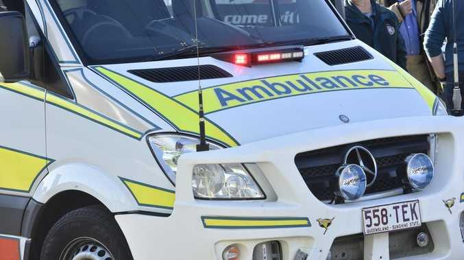 Man injured after crashing motorcycle in rural town