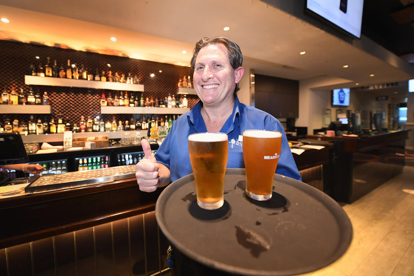 Pubs are back - Bay Central Tavern Venue Manager Paul Limbrick. Photo: Cody Fox