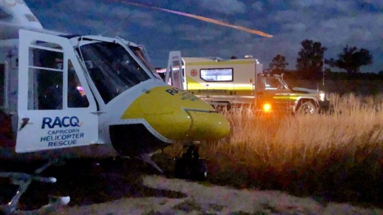 Yesterday evening, RACQ Capricorn Rescue was tasked to a property, about 50 miles west of Rockhampton where a man in his 50s had fallen from his horse whilst working on his property.