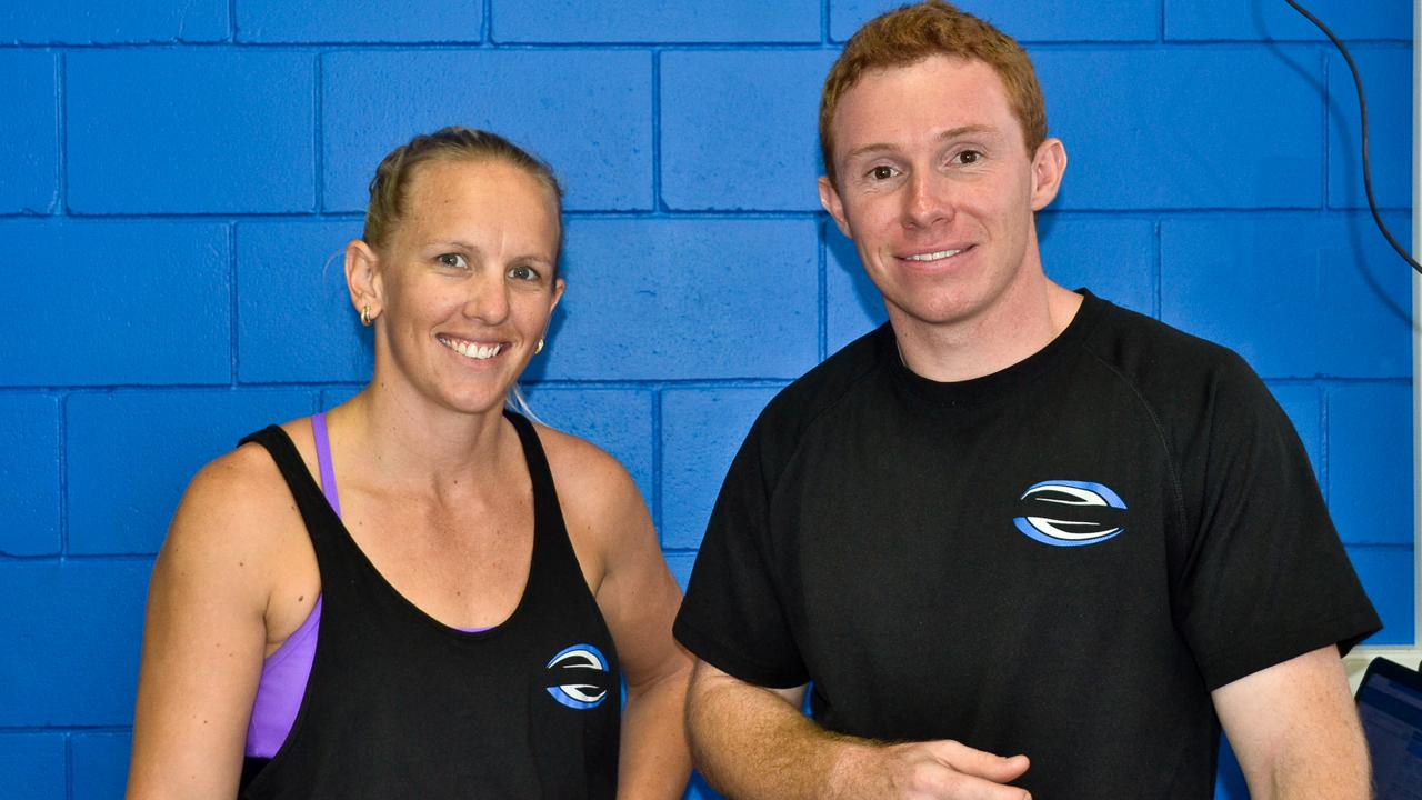 Kylie Wilson and Brendan Ruff, the owners of Amp'd Fitness, Bowen. Picture: Shannon Kirk