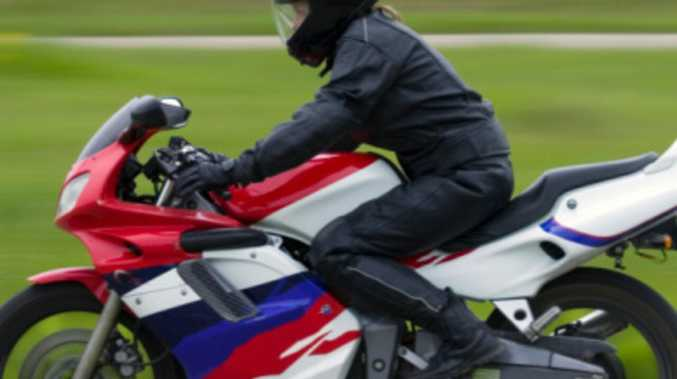 Motorbike rider suffers chest injuries after crash