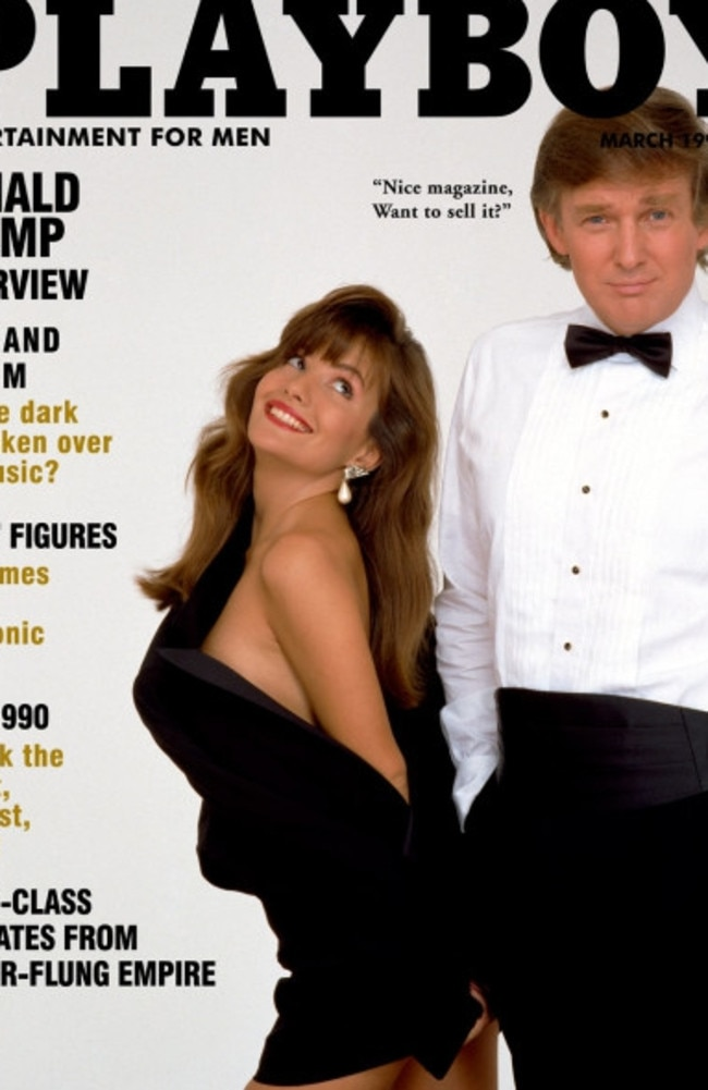 Donald Trump and Brandi Brandt on the cover of Playboy magazine, March 1990. Picture: Playboy