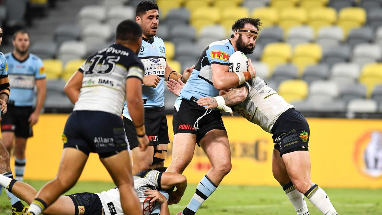 Cronulla recorded their first win of the season. Photo by Ian Hitchcock/Getty Images.