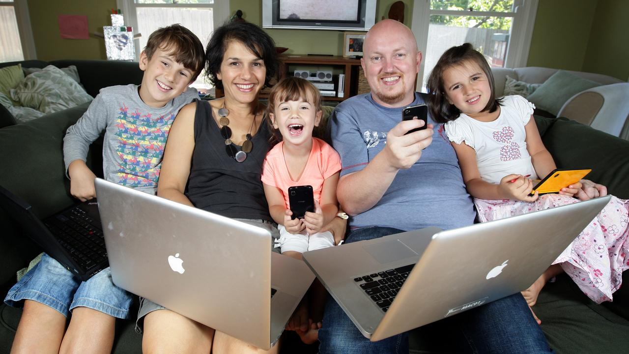 HINTS AND TIPS: Families have never been more reliant on technology. Picture: MICHAEL REBECCA