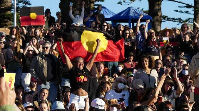 Thousands gather in Byron Bay for Black Lives Matter protest