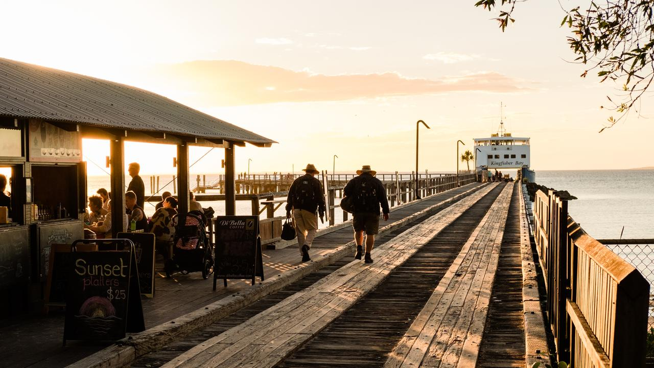 Kingfisher Bay Resort jetty. Photo: Cameron Zegers