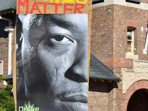 Emotions run high at Lismore's #blacklivesmatter protest