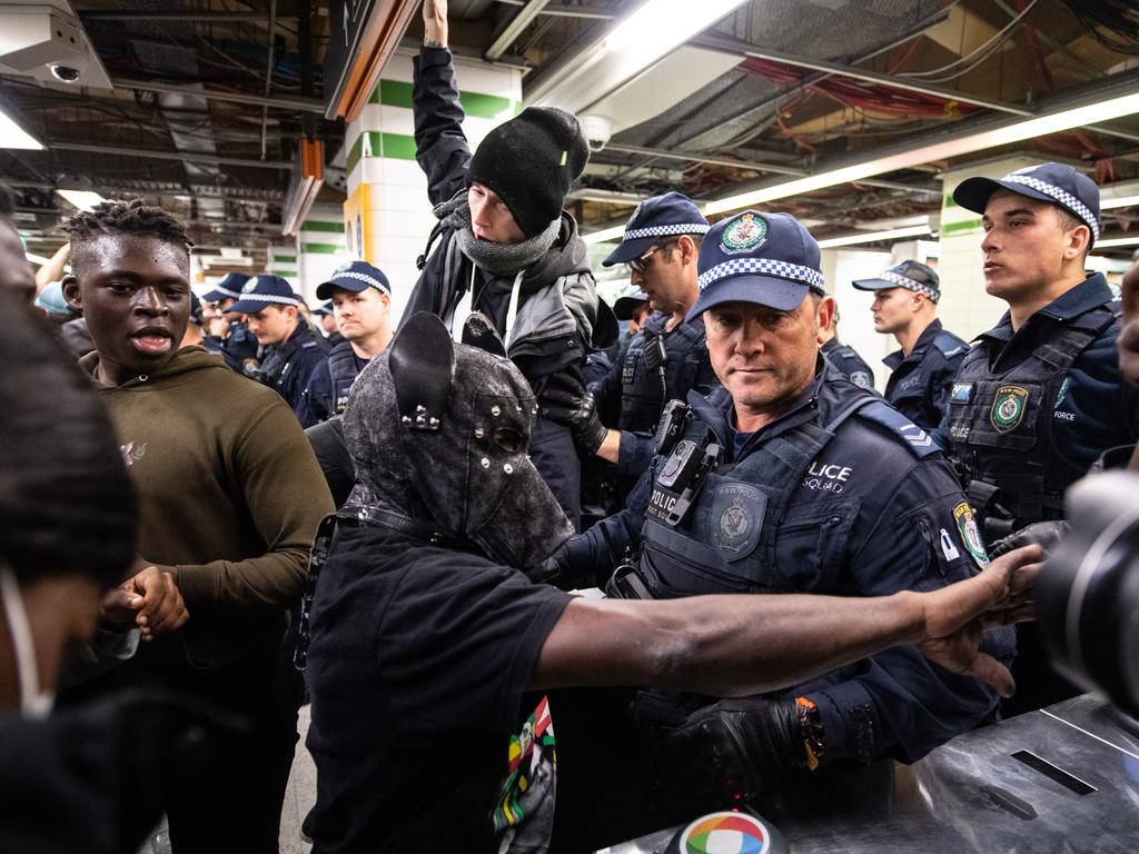 Around 30 people were hit with pepper spray. Picture: James Gourley/AAP
