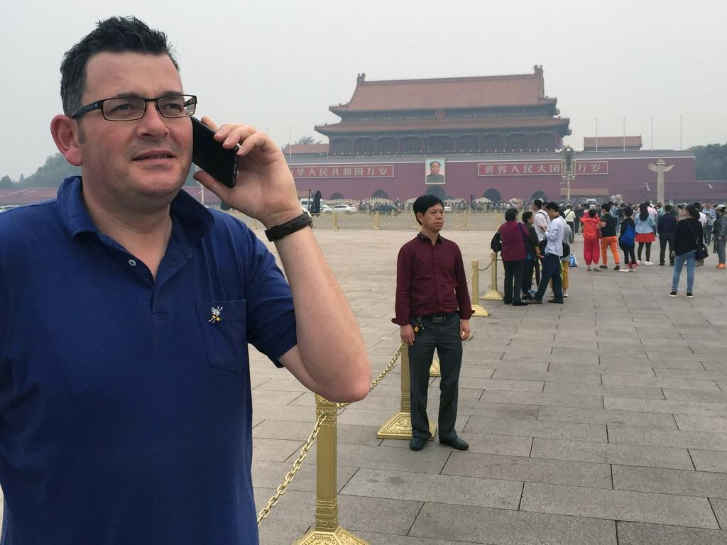 Daniel Andrews at Tiananmen Square in Beijing.