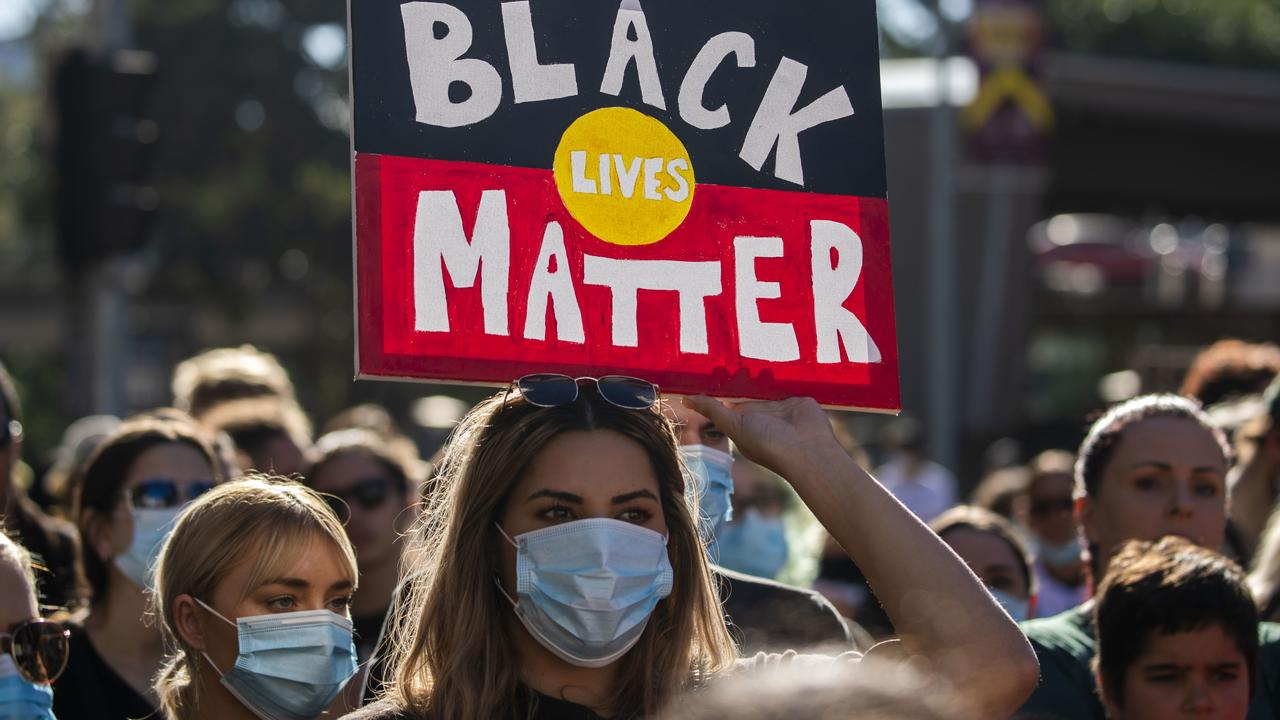 Tens of thousands of people attended Black Lives Matter rallies on Saturday. Picture: AAP/Glenn Hunt