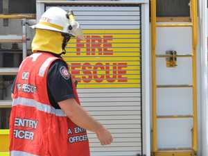 Fire crews race to put out large shed fire