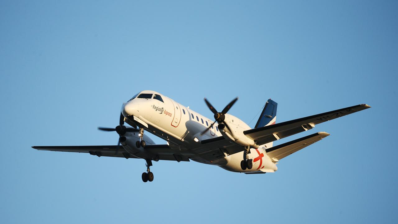 A Regional Express twin turbo propellor light air plane comes in to land at Cairns Airport. PICTURE: BRENDAN RADKE