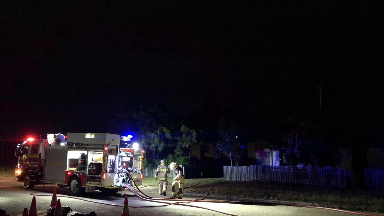 A house fire ripped through the roof of a Gordon St, Bowen property late last night (June 6). Picture: Jordan Gilliland