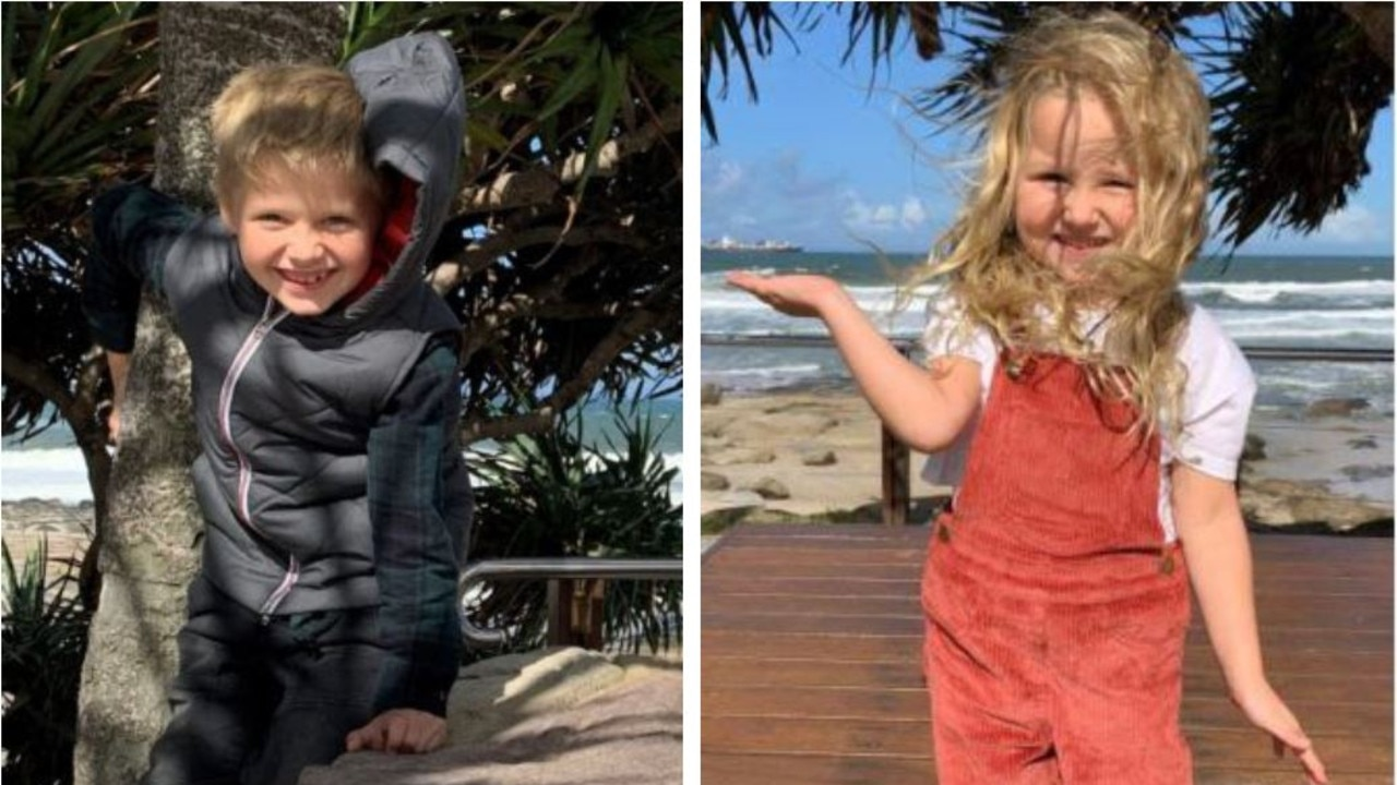 Police released images of a boy and girl reportedly missing from Harristown.
