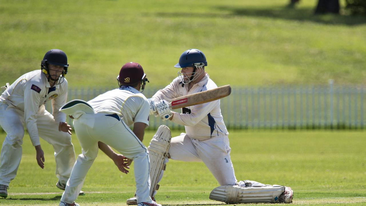 University's Dean Sullivan bats against Northern Brothers Diggers at Rocville Oval during a TCI match earlier this year. Sports clubs who share ground are being urged to identify any potential season conflicts.