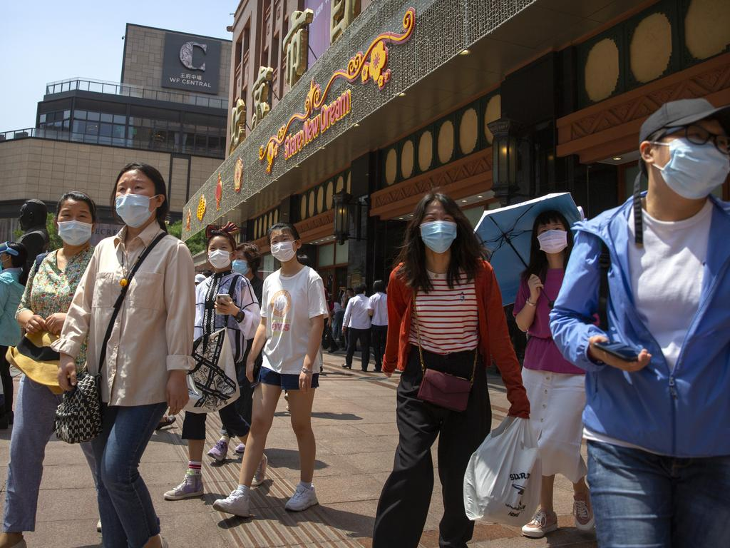 Beijing on Saturday lowered its emergency response level to the second-lowest rating for the coronavirus pandemic. Picture: AP