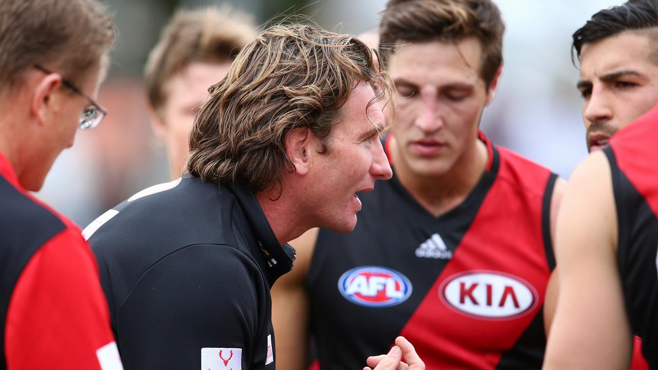 James Hird has opened up to Shane Crawford in a revealing interview. Picture: Michael Klein