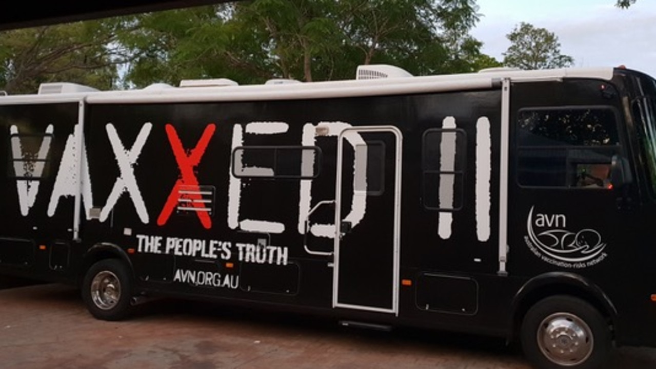 Anti-vaxxers will travel through Queensland on a promotional tour. Picture: Supplied