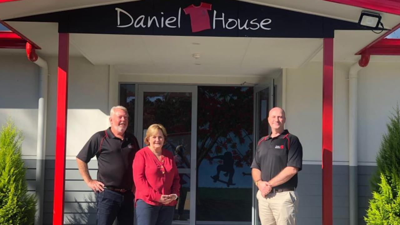 CHANGING FUTURES: Bruce and Denise Morcombe pictured with Conrad Townson at Daniel House. Picture: Laura Pettigrew