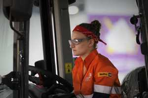 Louise Azzopardi competing in the WorldSkills international competition.