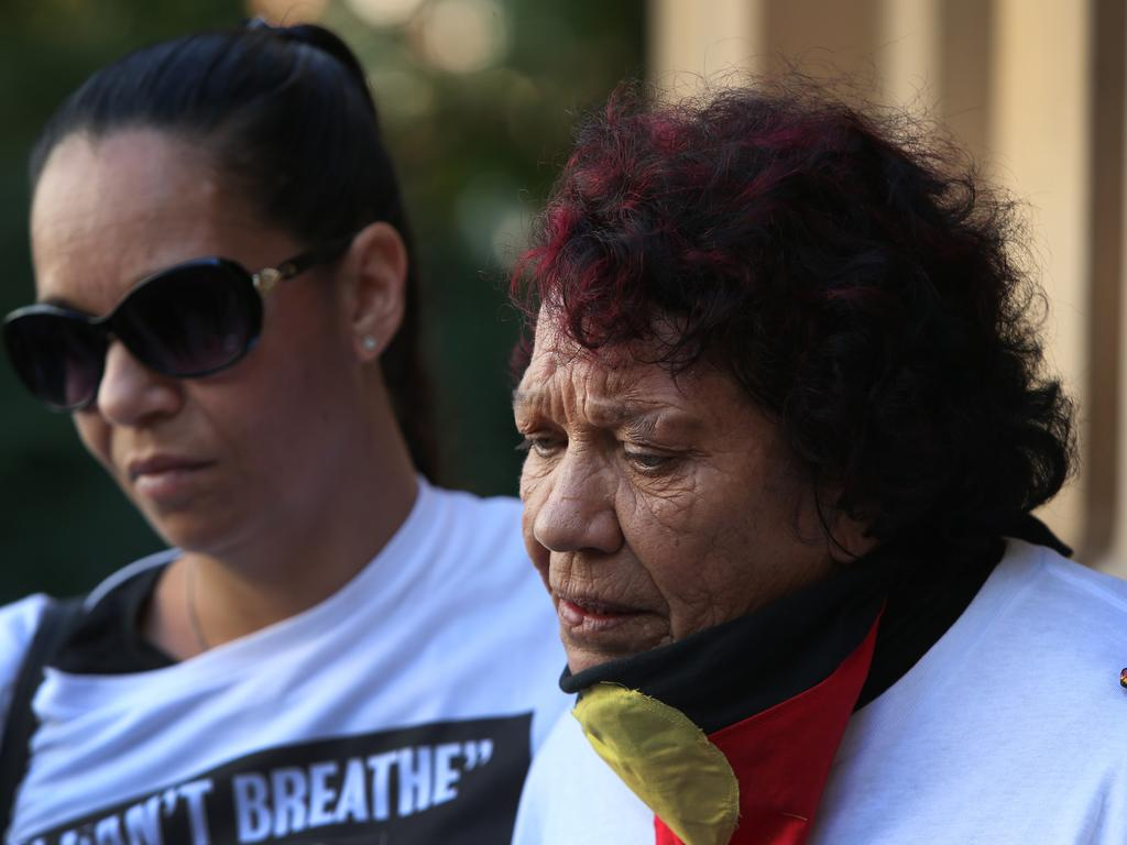 Leetona and Christine at Sydney's Black Lives Matter protest on Saturday. Picture: Lisa Maree Williams/Getty Images