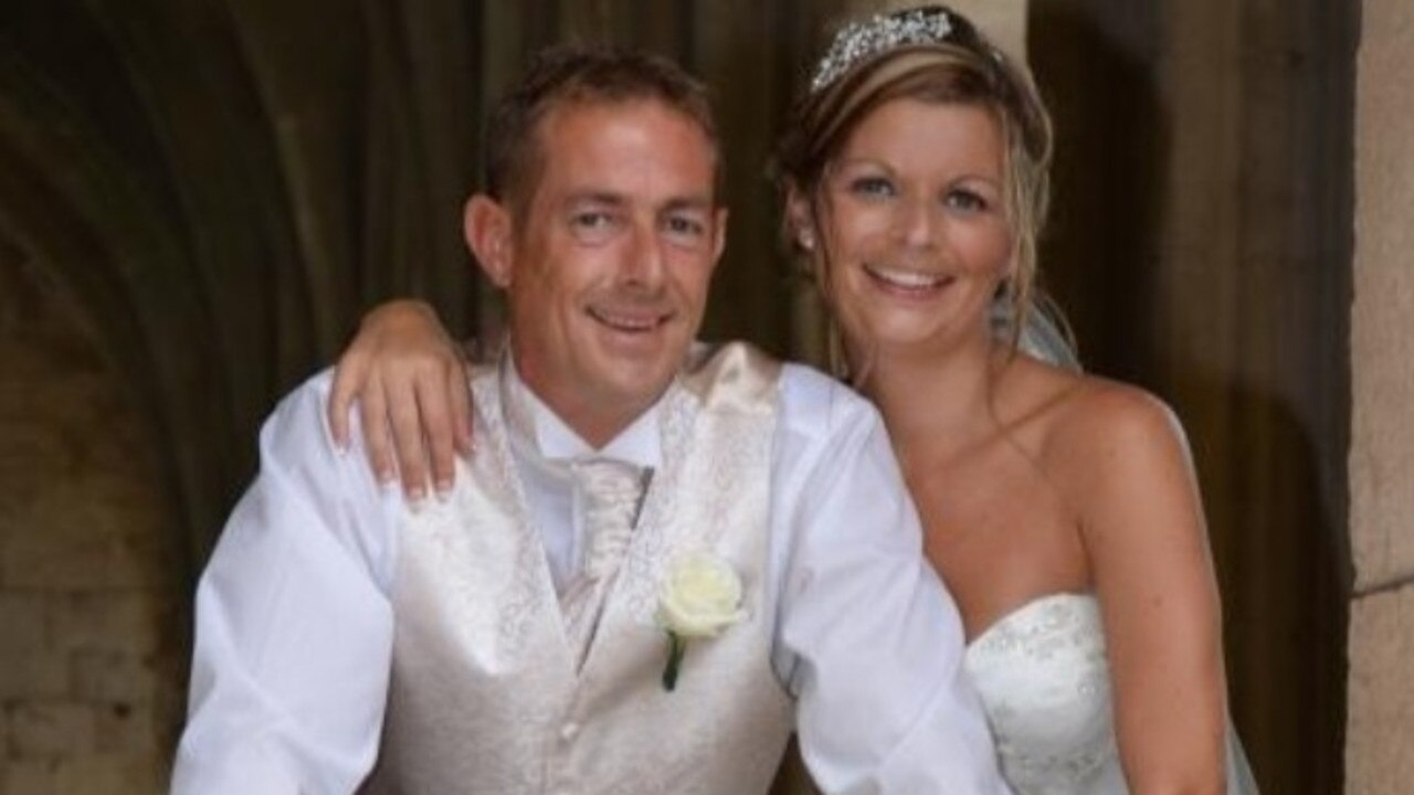 Lisa and Paul Shurety on their wedding day, before Lisa's life changed forever. Picture: GoFundMe