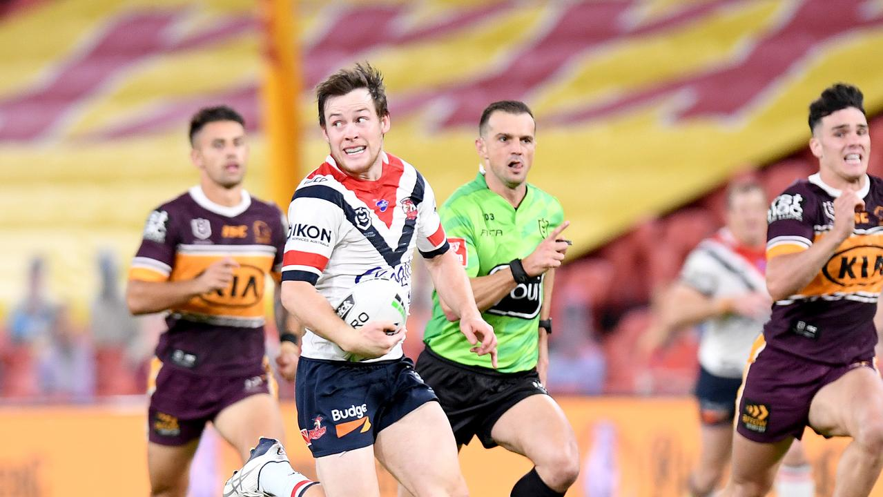 Luke Keary was superb for the Roosters on Thursday night against the Broncos. Picture: Bradley Kanaris/Getty Images