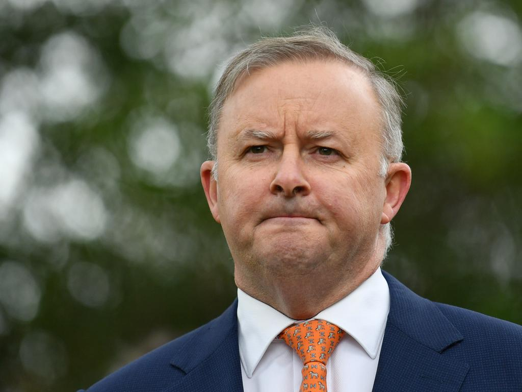Anthony Albanese is well behind Scott Morrison in the popularity stakes, according to the latest Newspoll results. Picture: AAP