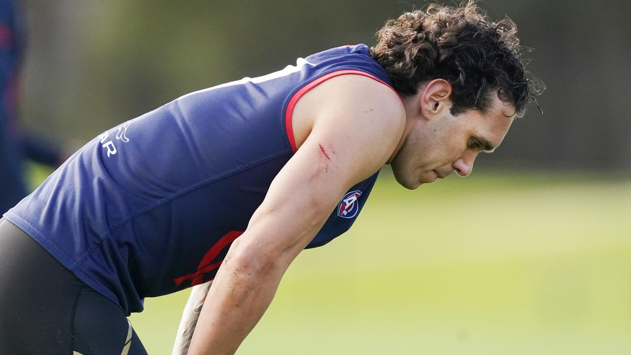 Harley Bennell at Melbourne training last week. Picture: AAP